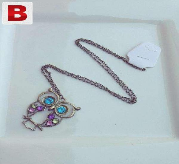 Imported owl pendant long necklace