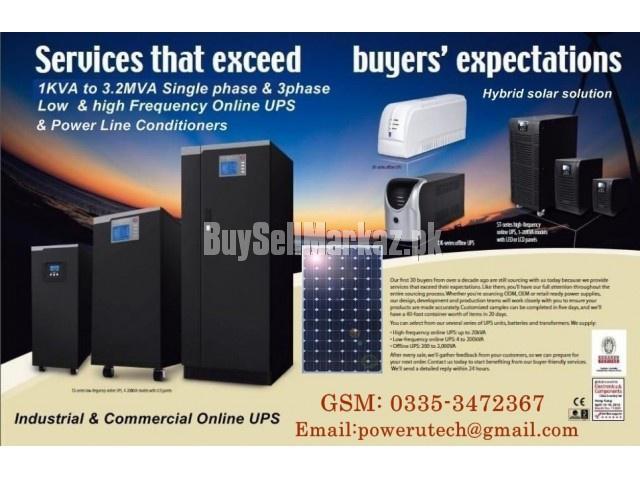 Industrial ups / power line conditioner / hybrid solar ups i