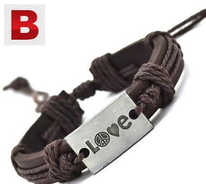 Love rope fashion leather