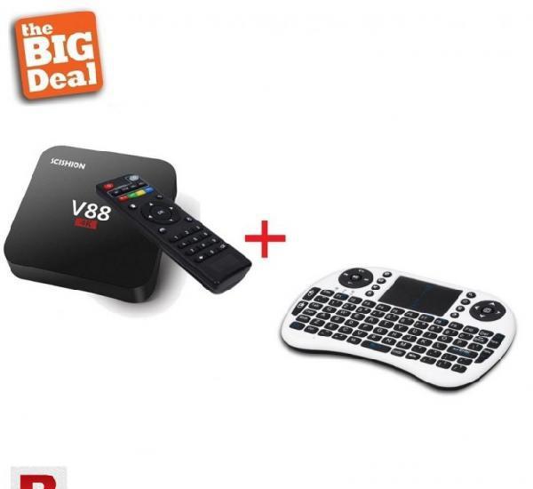 Mega deal 8 (v88 android tv box + i8 wireless keyboard)