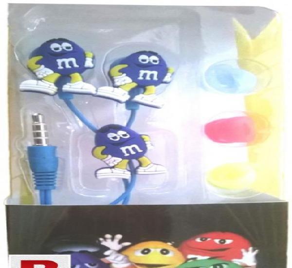 M&m cartoon earphones for smart phones