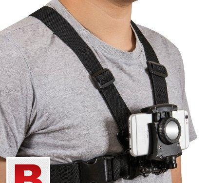 Mobile phone photography harness strap chest mount holder