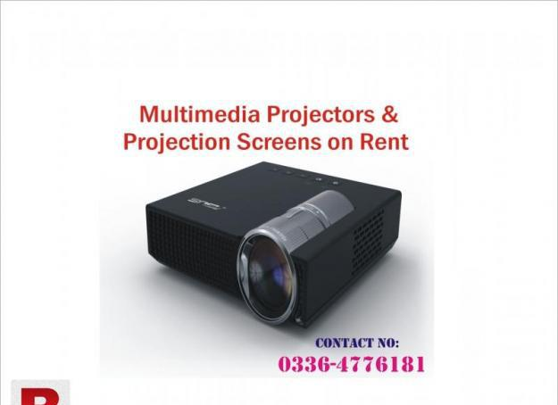 Multimedia projectors & screens for matches on rent