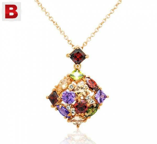 Mysmar yellow gold plated multi colour jewelry set mm128
