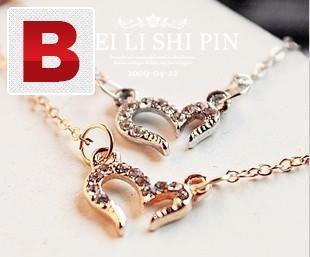 New fashion vintage misha barton love heart necklace
