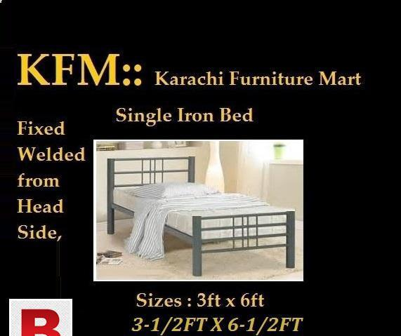 New iron bed single in reasonable price of rs. 7500 buy now
