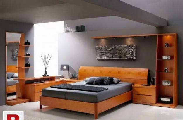 New modern bedroom set unit   in oak wooden matt finish.