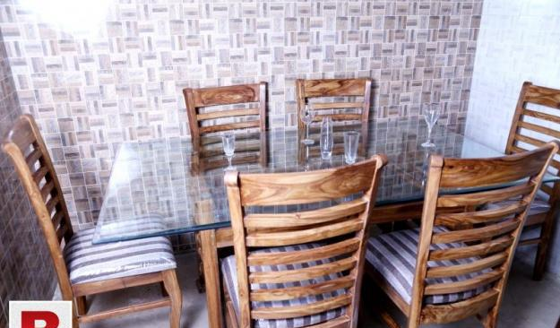 New dining table with six chairs in pure shesham wood |