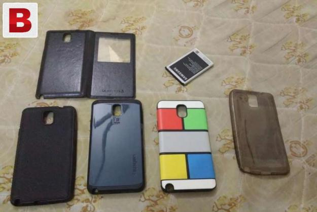 Note 3 orignal battery 4 back covers 1 sview case