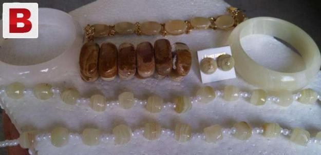 Onyx hand crafted jewelry set