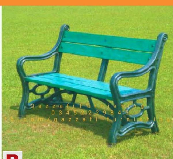 Plastic wood bench
