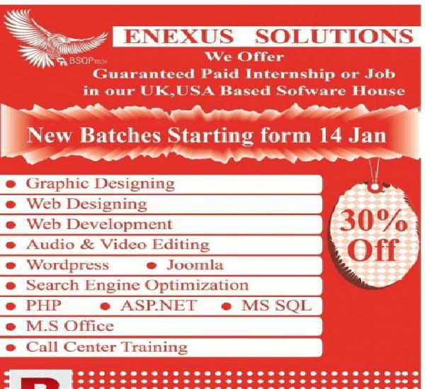 "Professional web design & development courses ""in karachi"""
