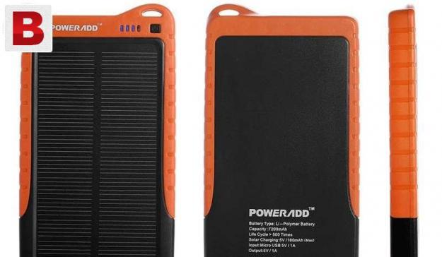 Poweradd™ solar panel charger apollo 7200mah free delivery