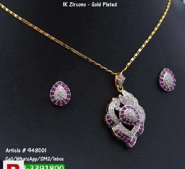 Purple and silver necklace + earrings jewelry set