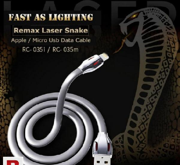 Remax data sync charger cable laser snake usb for iphone