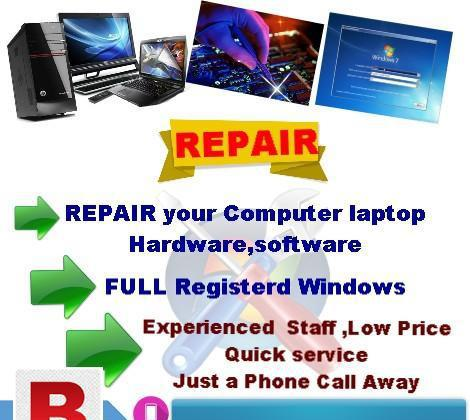 Repair your computer hardware and software at low rates