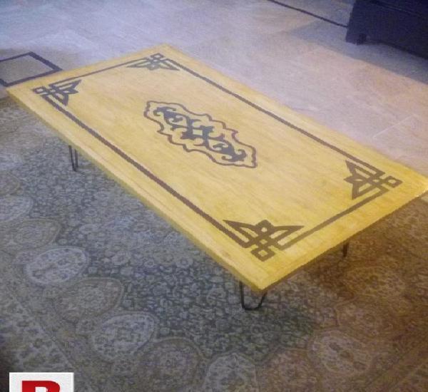 Resin inlay coffee table