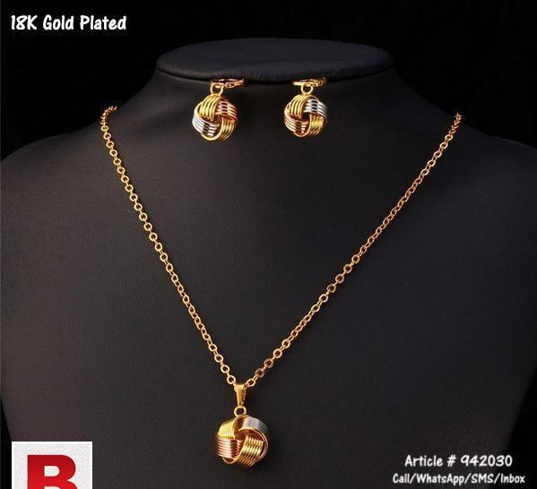 Rose gold plated jewelry set