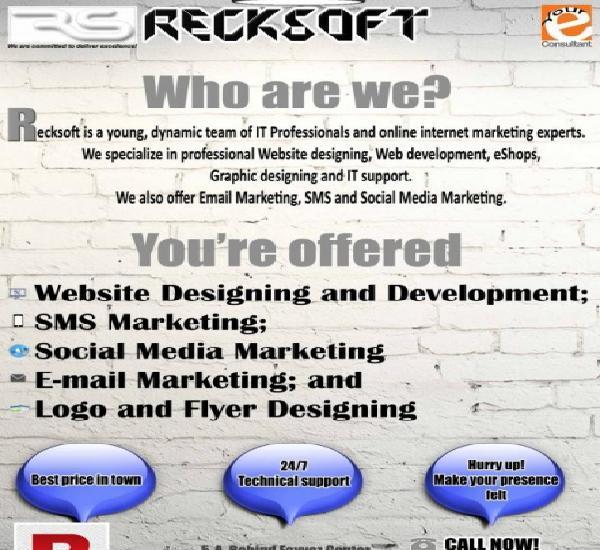Sms marketing, social media marketing, web development at