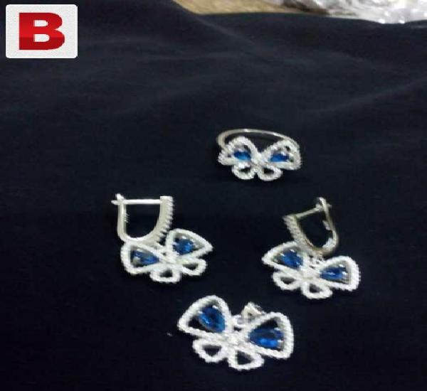Silver 925 jewelry set with ring