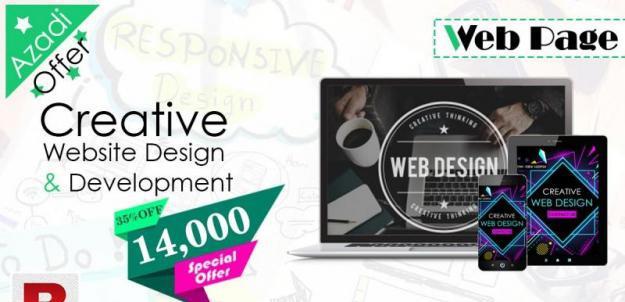 Special Azaadi Offer 35% Off | Website Design & Development
