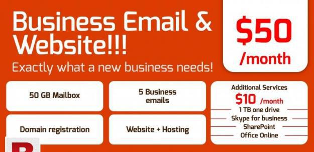 Website development/ business emails