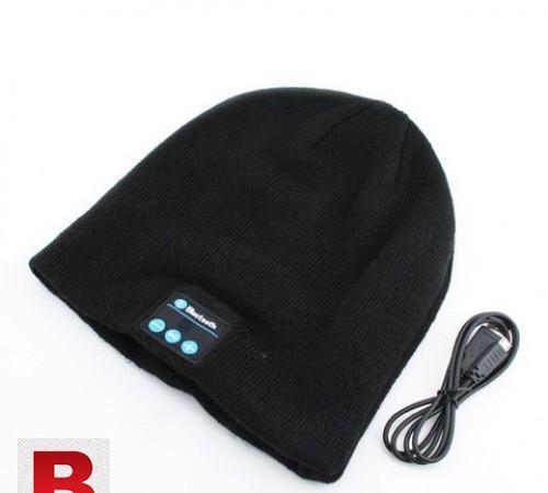 Wireless bluetooth winter woolen cap