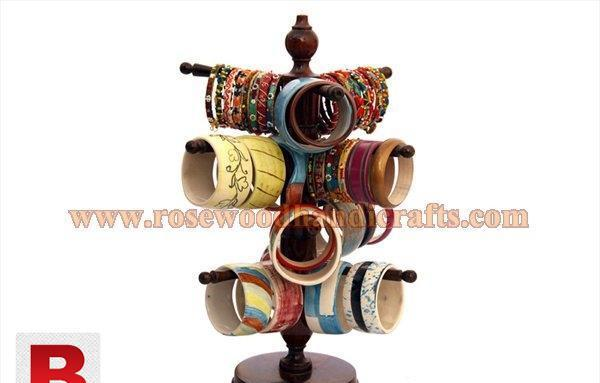 Wooden bangles stand for women jewelry