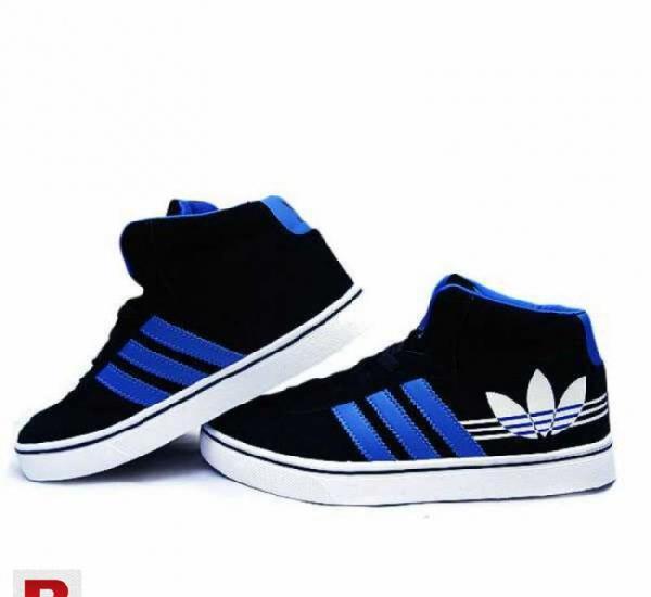 Black & blue sneakers for men