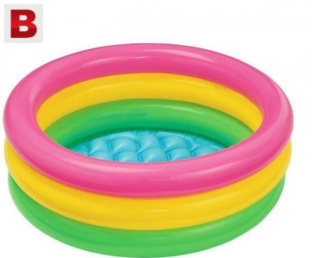 Inflatable swimming pool blow up kids children infant