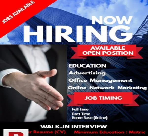 Network marketing staff required male/female