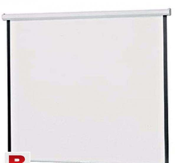 Projector screen wall mount manual pull down 6ft x 6ft 72