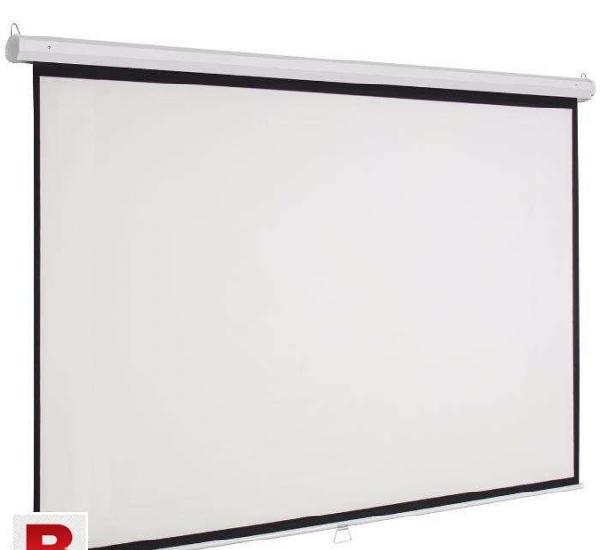 Projector screen wall mount manual pull down 8ft x 10ft 150
