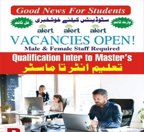 Staff required for office management (limited seats)