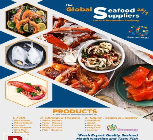 The global seafood suppliers 24/7 local & worldwide delivery