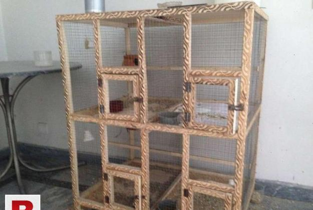 4 portions wooden cage