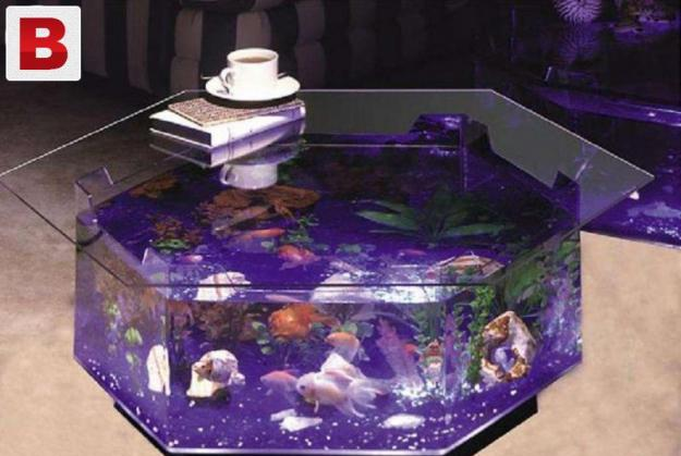 6 corner center aquarium coffee table
