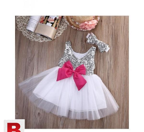 Baby kids girls princess dress sequined wedding gown9