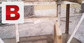Birds wooden two partation cage in good condition