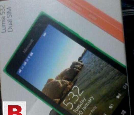 Black color microsoft lumia 532 box pack