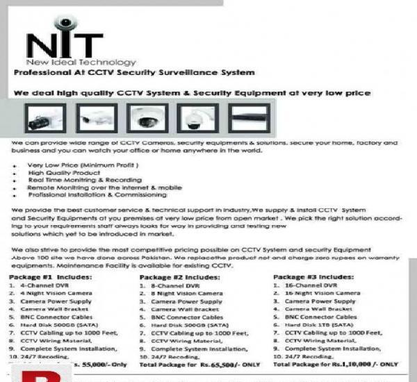 Cctv cameras package's