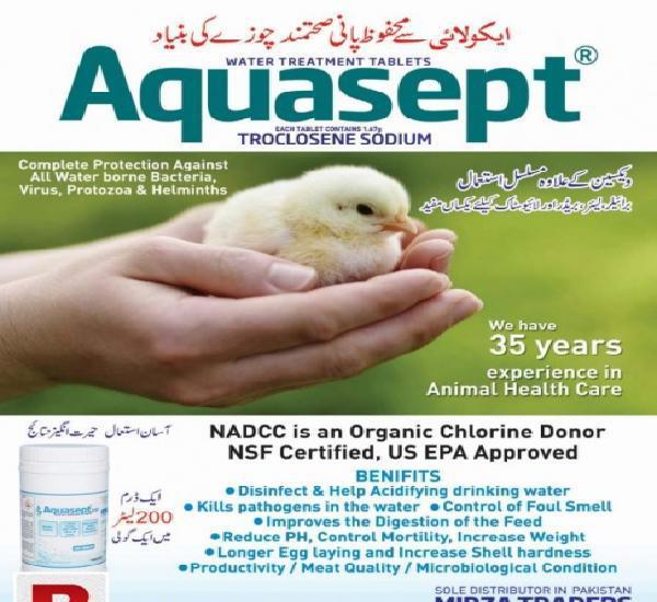 Ecoli protection tablets aquasept