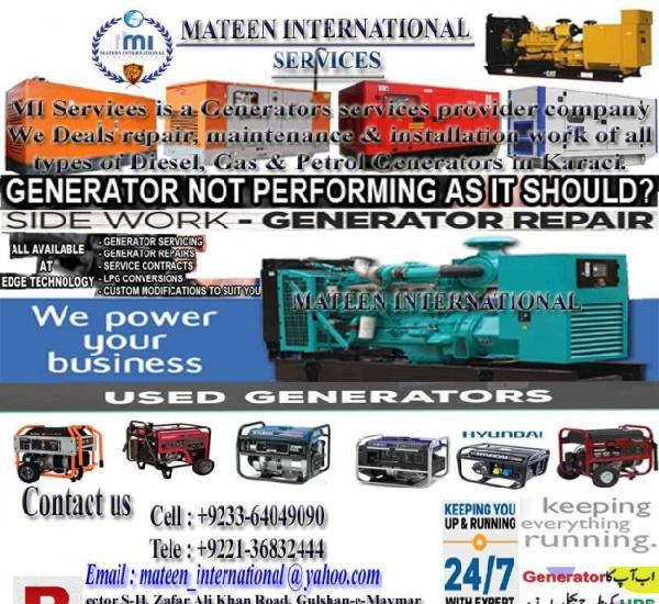 Generator repairing, maintenance, & installation services in