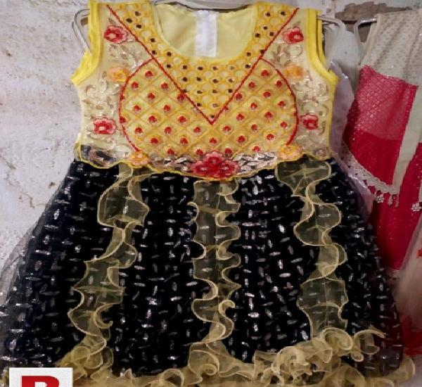 Girl's Stylish Party Wear Frock
