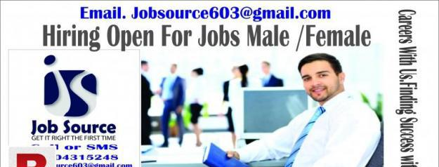 Hiring open for jobs all over pakistan male /female