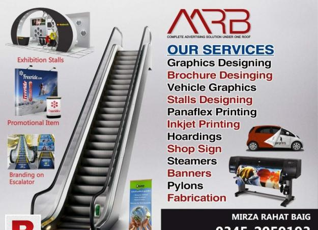 Large formt digital printing and led signs and other