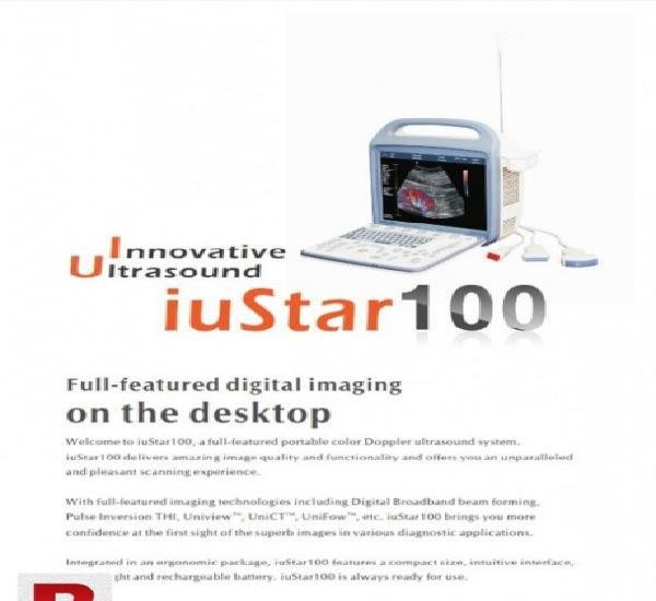 Portable color doppler istar 100 6 month warranty left 3d 4d