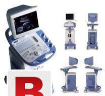 Refurbished b/w trolley mounted ultrasound toshiba famio 8