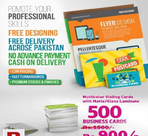 Visiting cards print online just for rs.900