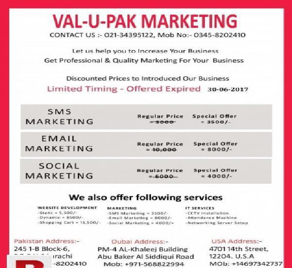 Web development & internet marketing services in pakistan